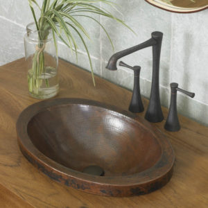 Hibiscus copper sink