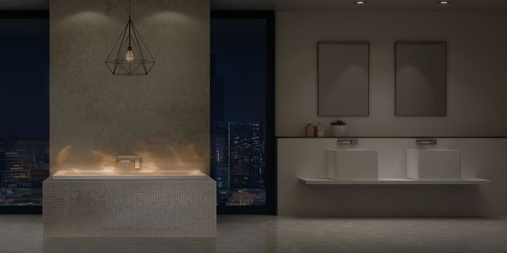 ff15d036b7bd Adventurous designers can look to the futuristic trend of iridescent tiling  being used on accent walls and backsplashes. While still relatively costly