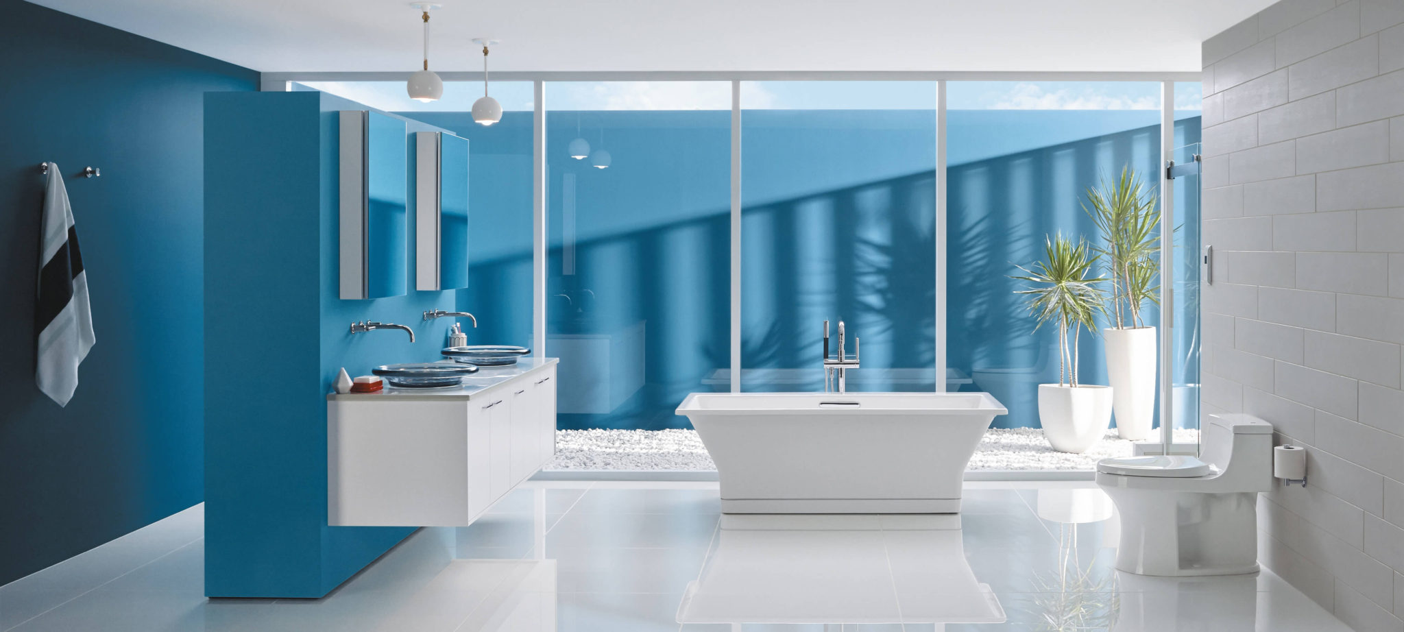 Kohler Blue Bathroom